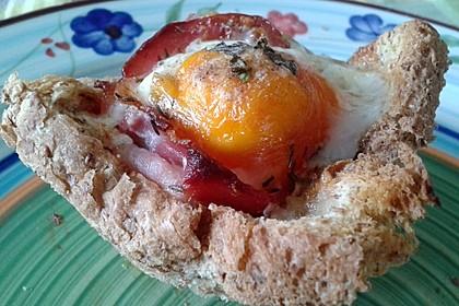 Gebackene Toast-Muffins mit Ei und Speck 32