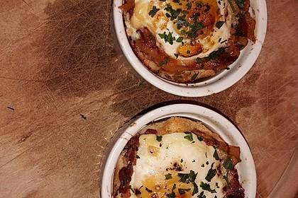 Gebackene Toast-Muffins mit Ei und Speck 53