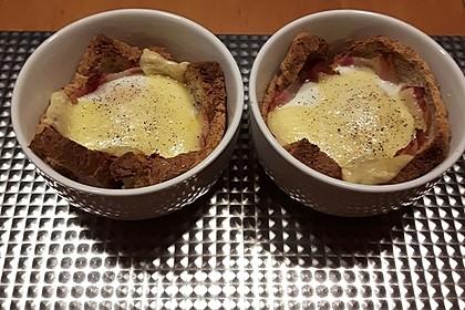 Gebackene Toast-Muffins mit Ei und Speck 55