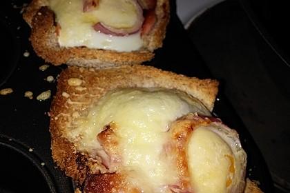 Gebackene Toast-Muffins mit Ei und Speck 64