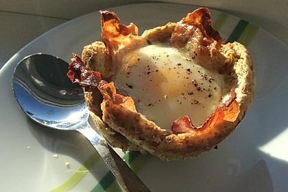 Gebackene Toast-Muffins mit Ei und Speck 38