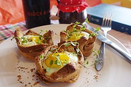 Gebackene Toast-Muffins mit Ei und Speck 11