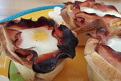 Gebackene Toast-Muffins mit Ei und Speck 51
