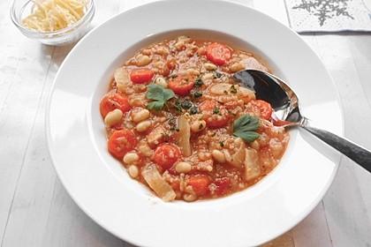Toskanische Bohnensuppe mit Kohl 2