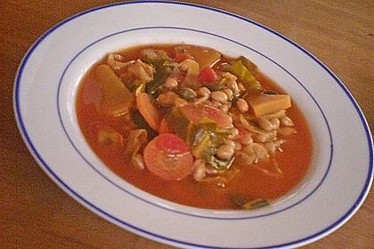 Toskanische Bohnensuppe mit Kohl 3