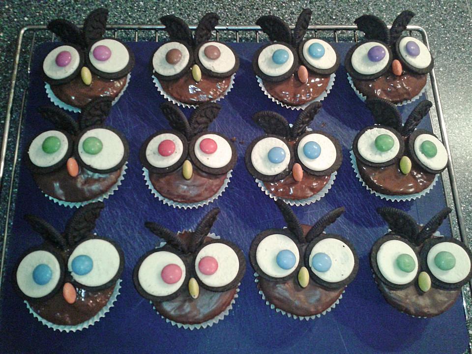Eulen Cupcakes Von Alochte Chefkoch De