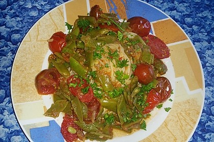 Penne mit Stangenbohnen in Tomatensauce 1