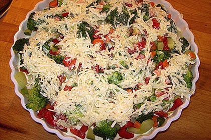 Überbackener Gemüsekuchen 1