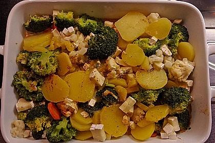 Camembert-Kartoffel-Gemüse Auflauf 1