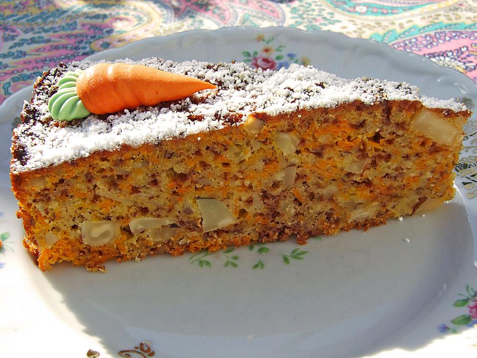 Karottenkuchen Mit Paranussen Und Schokostreusel Von Schmackofatz3