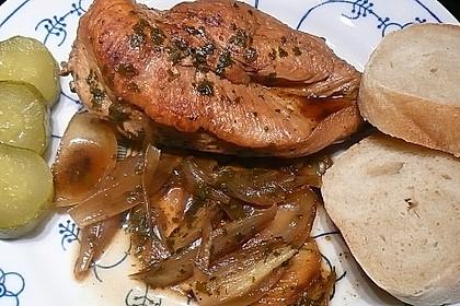 Hähnchenbrustfilets in Weinbrandsoße