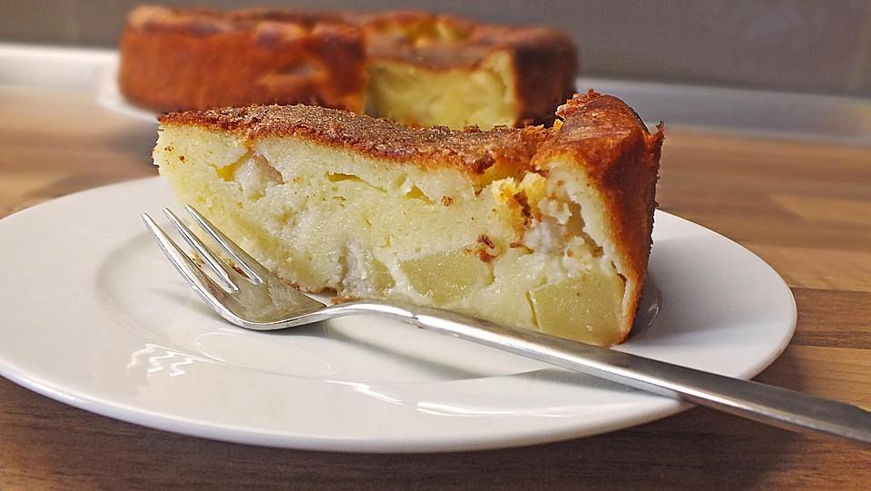 Apfelkuchen Ohne Boden Mit Quark Vanillepudding Von Soloman