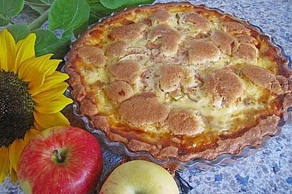 Apfelkuchen mit Sauerrahm (Bild)