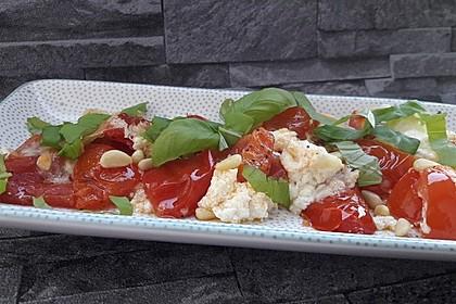 Geschmorte Tomaten alla Burrata (Bild)