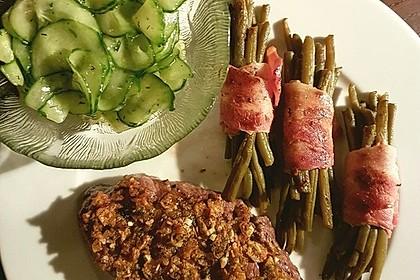 Gratinierte irische Steaks mit Gurkensalat 3