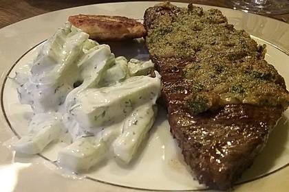 Gratinierte irische Steaks mit Gurkensalat 9
