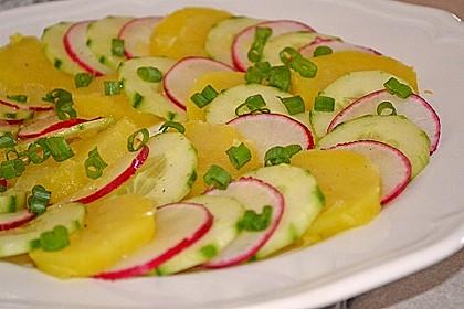 Kartoffel-Radieschen Salat mit Salatgurke und Kräutern 1
