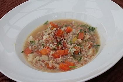 Winterliche Gemüsesuppe mit Dinkelkörnern 1