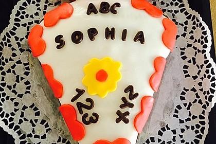 Schulanfangs-Zuckertüten-Torte 2