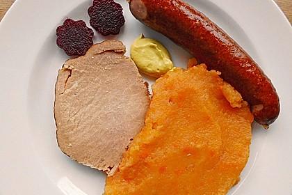 Rübenmus mit Kasseler und Kochwurst