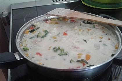 Fisch-Gemüse-Pfanne mit Kokosmilch, Low carb 63