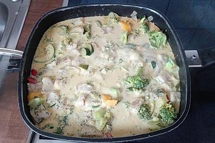 Fisch-Gemüse-Pfanne mit Kokosmilch, Low carb 68