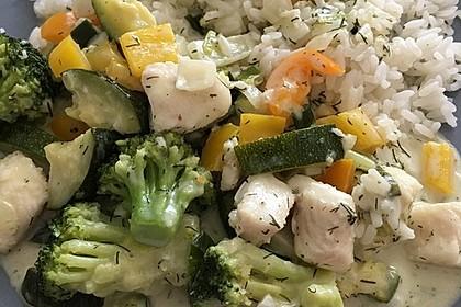 Fisch-Gemüse-Pfanne mit Kokosmilch, Low carb 30