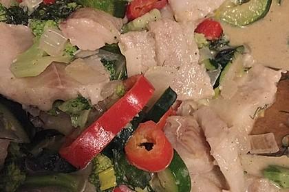 Fisch-Gemüse-Pfanne mit Kokosmilch, Low carb 66