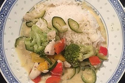 Fisch-Gemüse-Pfanne mit Kokosmilch, Low carb 61