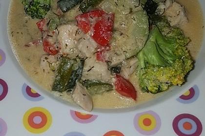 Fisch-Gemüse-Pfanne mit Kokosmilch, Low carb 73
