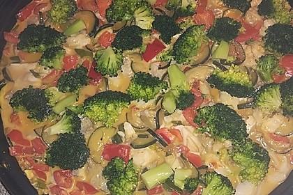 Fisch-Gemüse-Pfanne mit Kokosmilch, Low carb 7