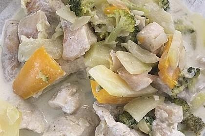 Fisch-Gemüse-Pfanne mit Kokosmilch, Low carb 57