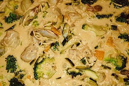 Fisch-Gemüse-Pfanne mit Kokosmilch, Low carb 13