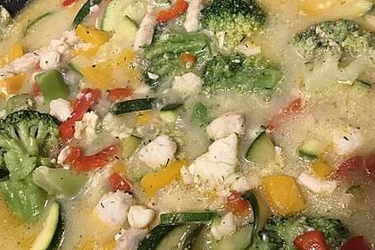 Fisch-Gemüse-Pfanne mit Kokosmilch, Low carb 26