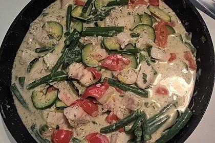 Fisch-Gemüse-Pfanne mit Kokosmilch, Low carb 12