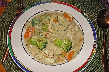 Fisch-Gemüse-Pfanne mit Kokosmilch, Low carb 49