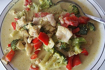 Fisch-Gemüse-Pfanne mit Kokosmilch, Low carb 43