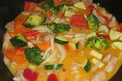 Fisch-Gemüse-Pfanne mit Kokosmilch, Low carb 8