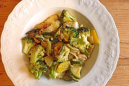 Fisch-Gemüse-Pfanne mit Kokosmilch, Low carb 28