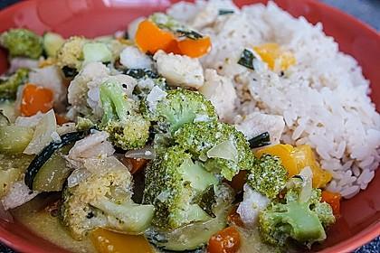 Fisch-Gemüse-Pfanne mit Kokosmilch, Low carb 21