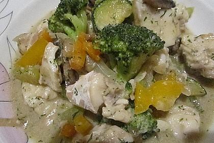 Fisch-Gemüse-Pfanne mit Kokosmilch, Low carb 44