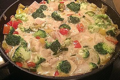 Fisch-Gemüse-Pfanne mit Kokosmilch, Low carb 27