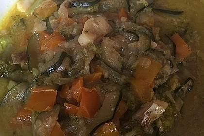 Fisch-Gemüse-Pfanne mit Kokosmilch, Low carb 62