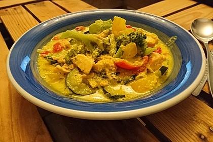 Fisch-Gemüse-Pfanne mit Kokosmilch, Low carb 29