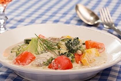 Fisch-Gemüse-Pfanne mit Kokosmilch, Low carb 4