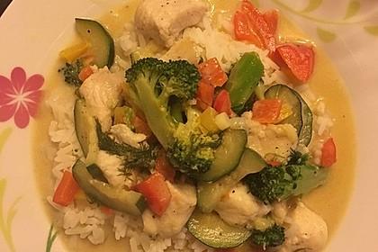 Fisch-Gemüse-Pfanne mit Kokosmilch, Low carb 23