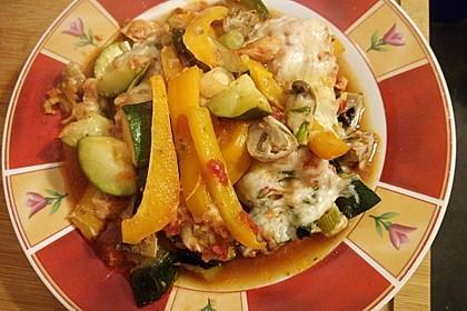Überbackene Hähnchenfilets mit mediterranem Gemüse 1