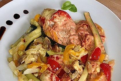 Überbackene Hähnchenfilets mit mediterranem Gemüse 19