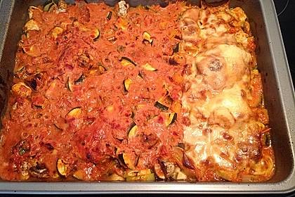 Überbackene Hähnchenfilets mit mediterranem Gemüse 11