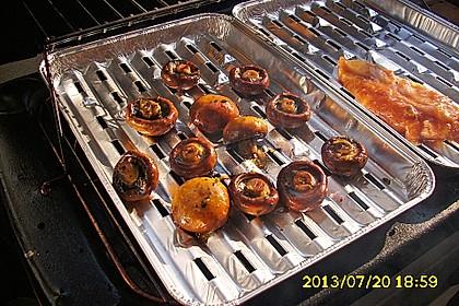 Marinierte Champignons vom Grill
